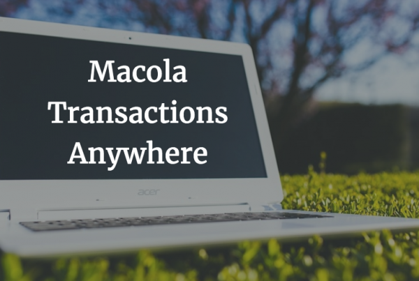 Macola transactions anywhere 2