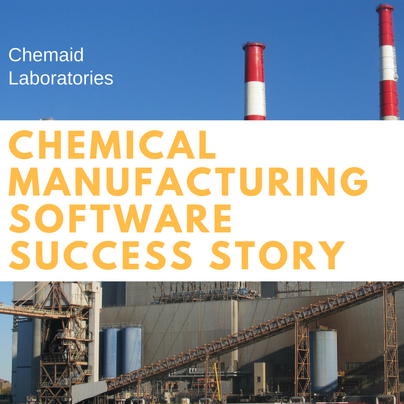 Chemical Manufacturing Software Success Story: Chemaid Laboratories