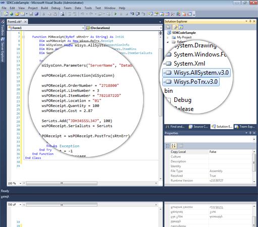 WiSys Software Development Kit - SDK for Macola