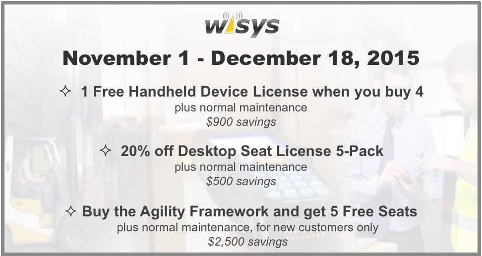 WiSys Promotions for New and Existing Customers