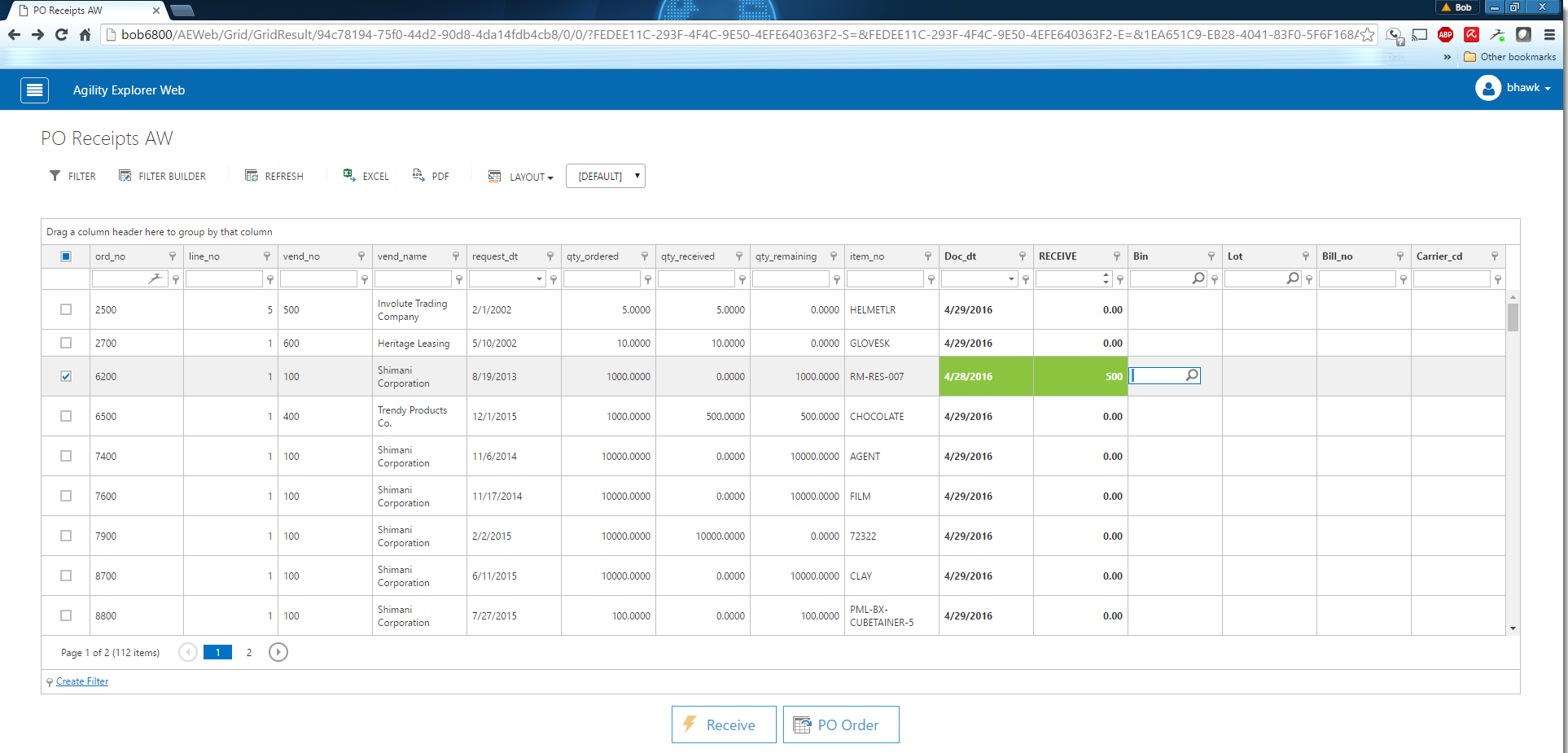 See the General Features of Agility Web Explorer