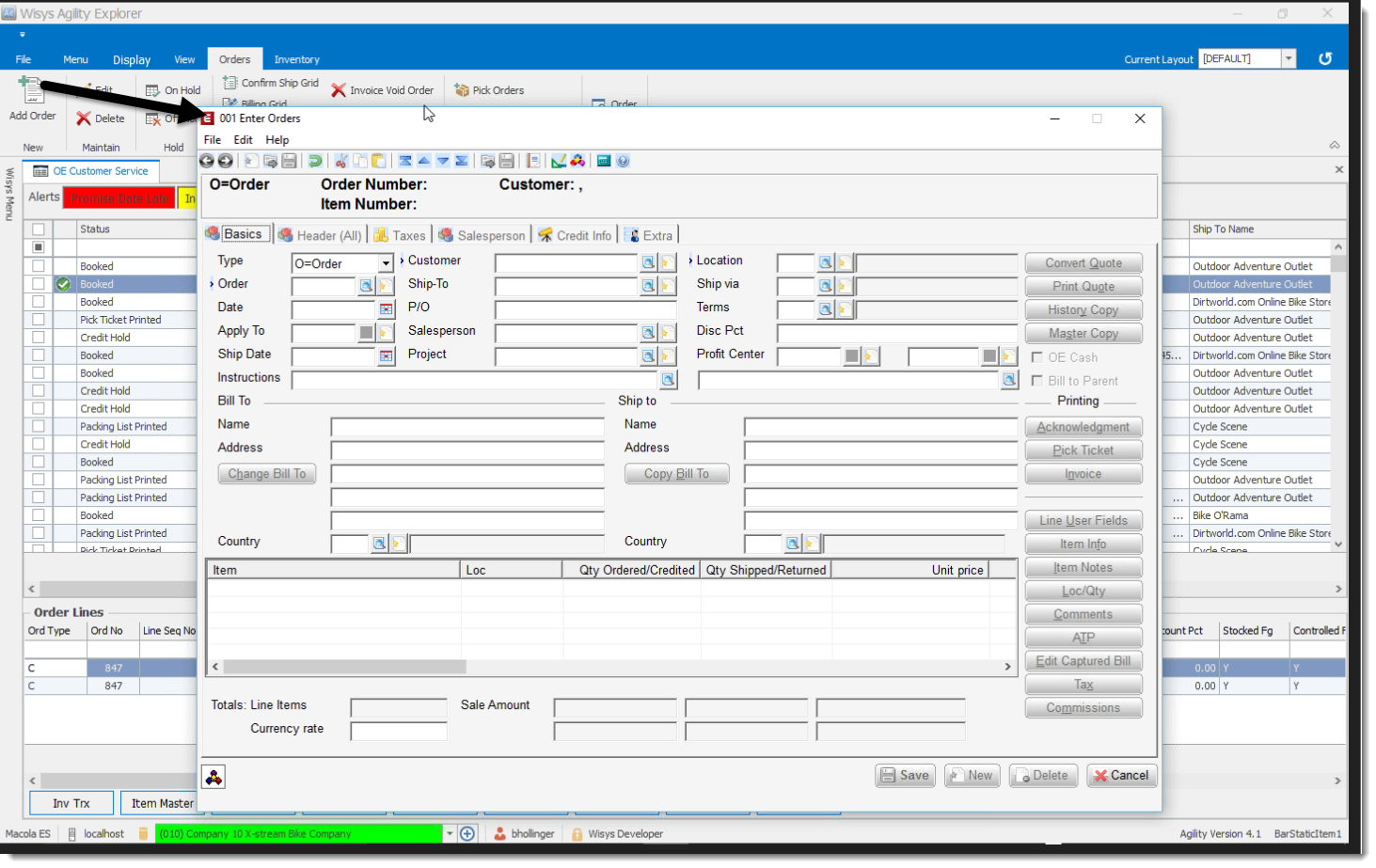 Using Grids to View and Process Transactions in Macola