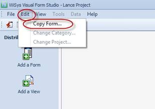 How to Create a New Project in WiSys Using the Copy Function