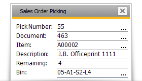 sales order picking sap business one
