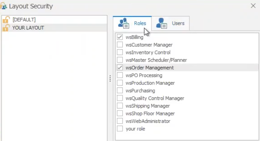 New Grid Layout Security in WiSys Agility Explorer