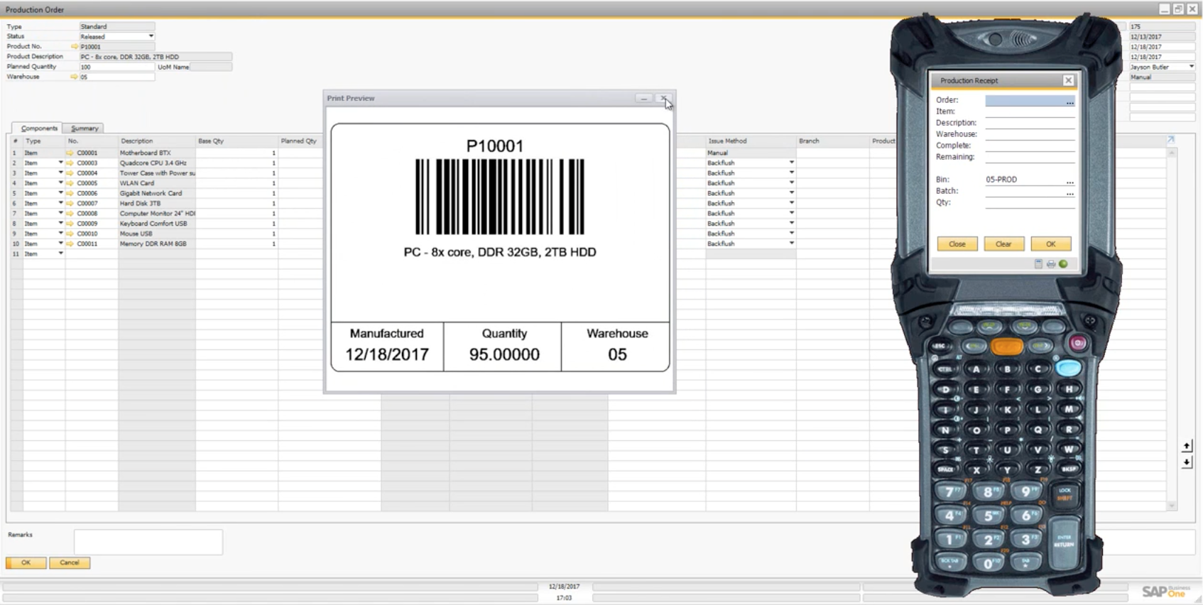Simplifying SAP Business One Production with WiSys WMS
