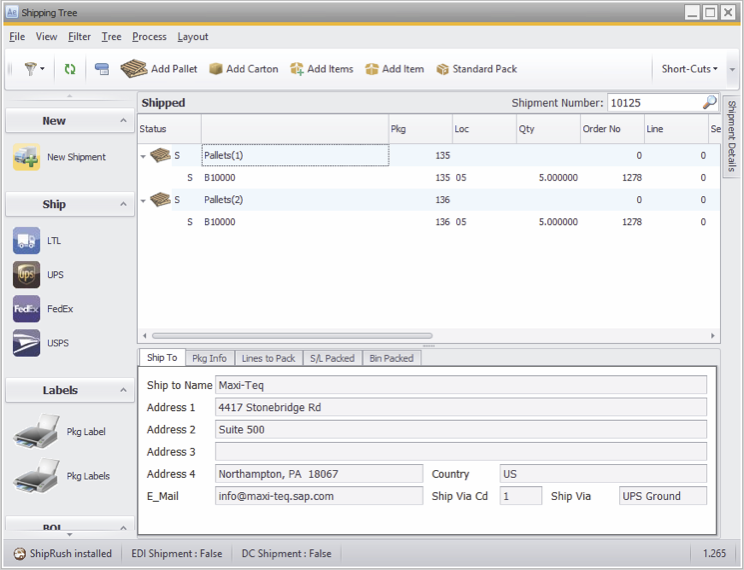 agility fulfillment-shipping tree-sap-business-one