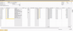 production backfill for sap business one