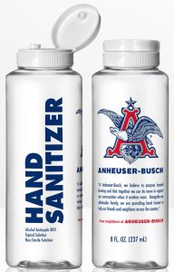 anheuser busch hand sanitizer