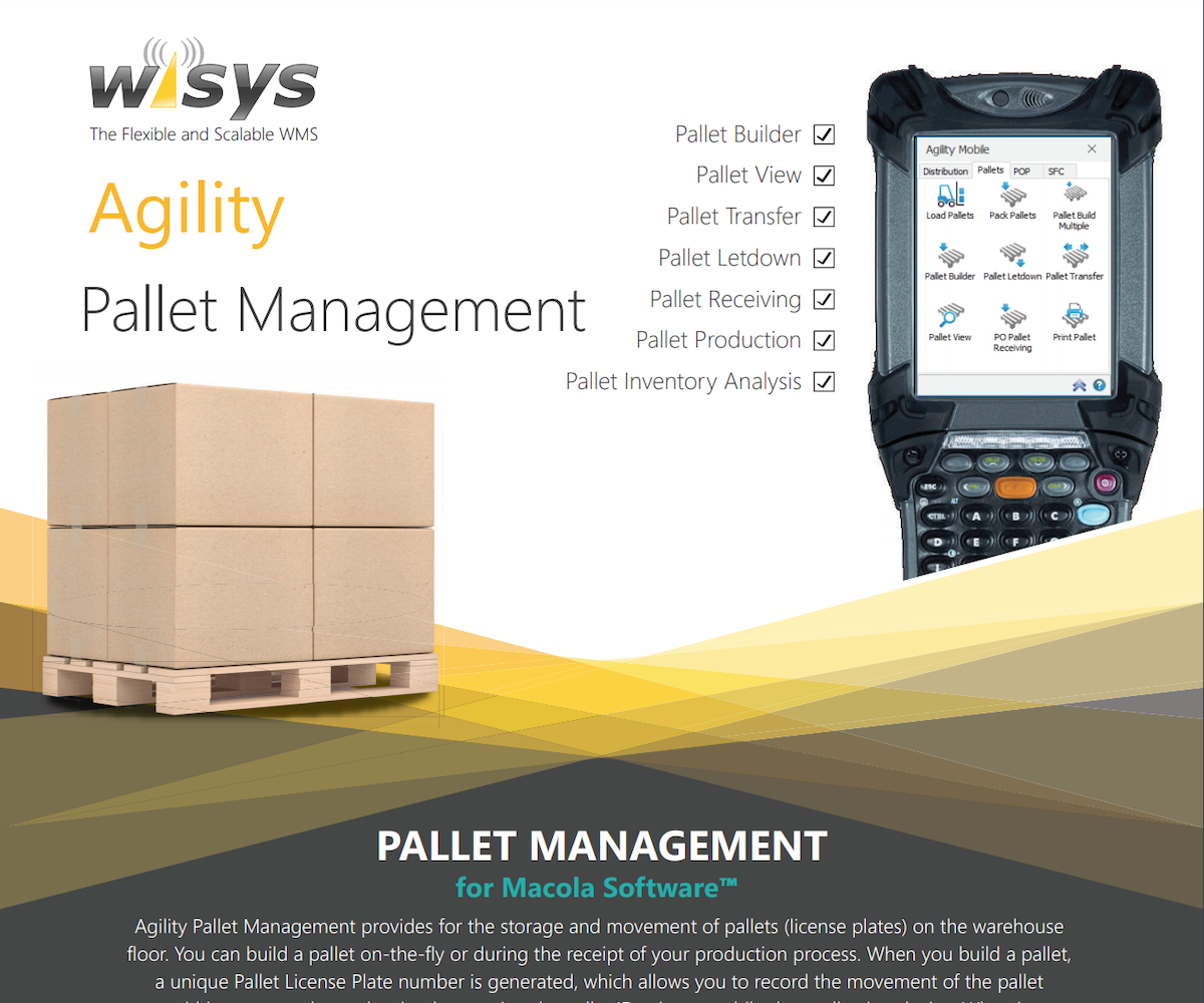 agility pallets for macola