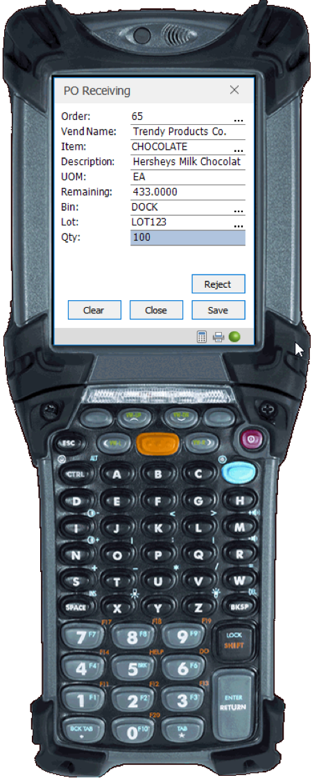 wms for macola barcode scanner